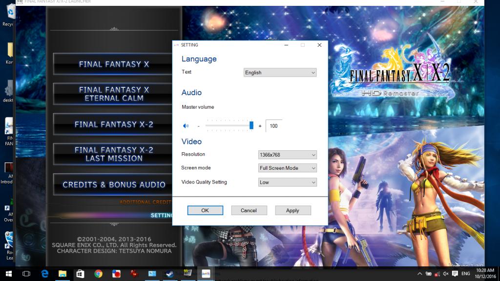 Final Fantasy X/X-2 HD Remaster HP 14-af118au