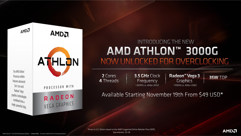 AMD Athlon™ 3000G Intro