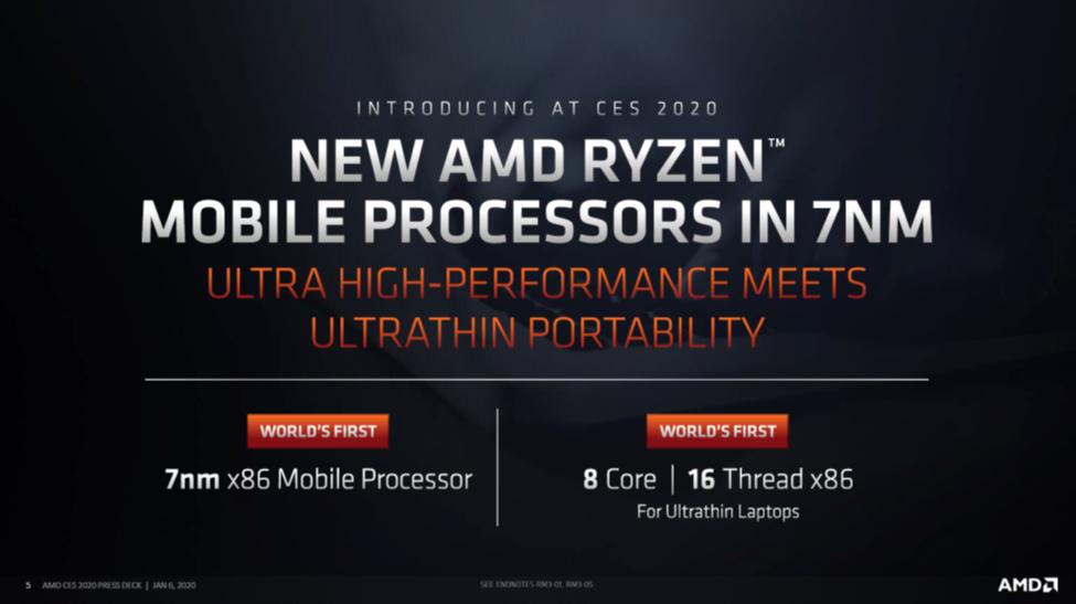 AMD Ryzen™ Mobile 4000 Series