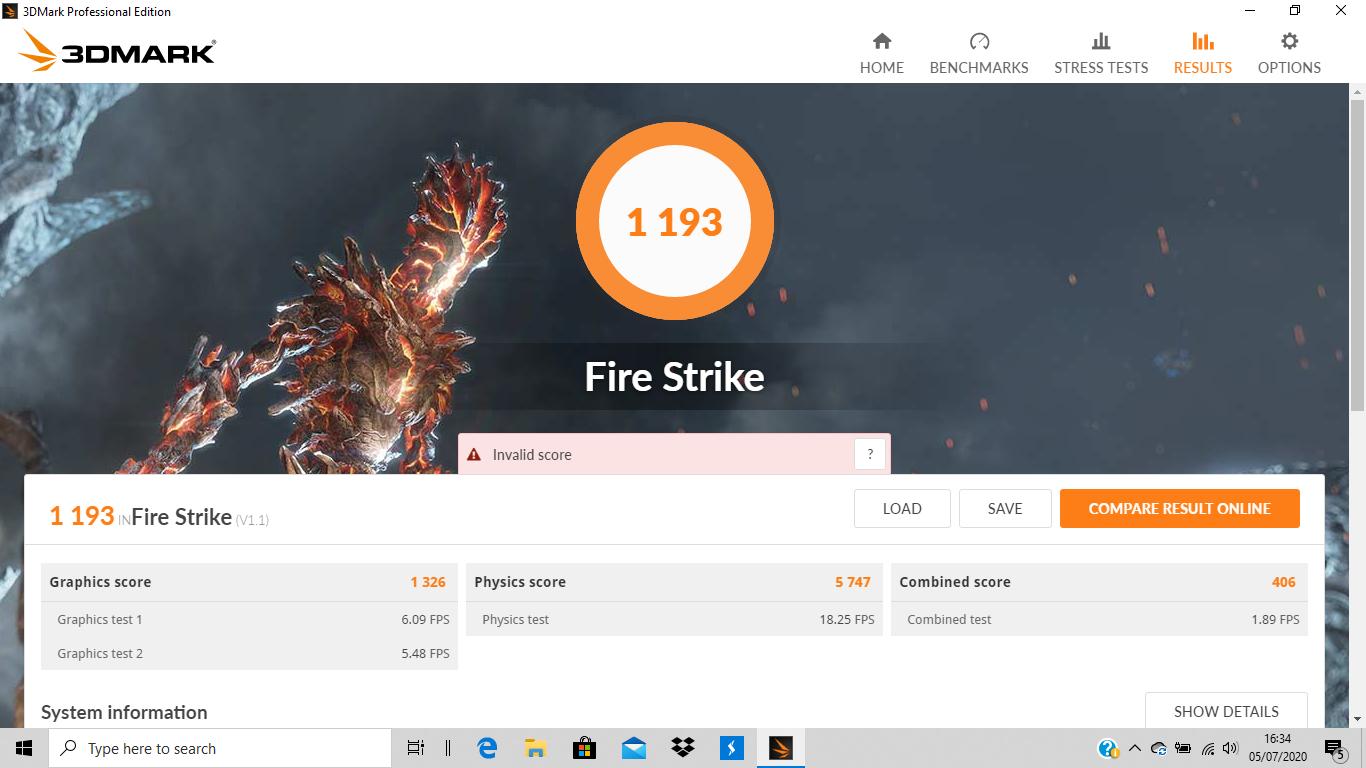 Pengujian 3DMark FireStrike