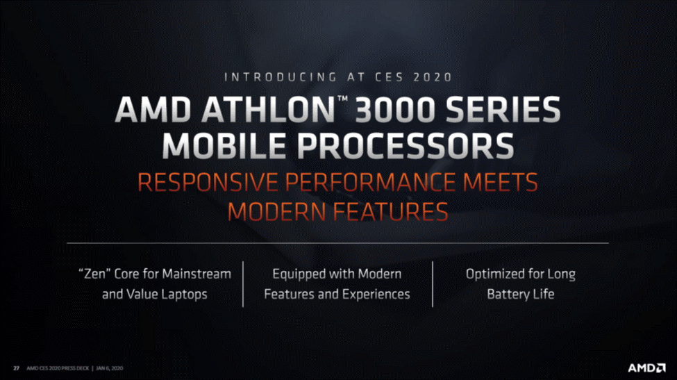 Kesimpulan AMD Athlon™ Mobile 3000 Series